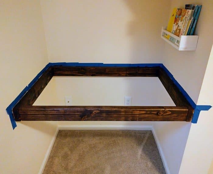 floating desk frame