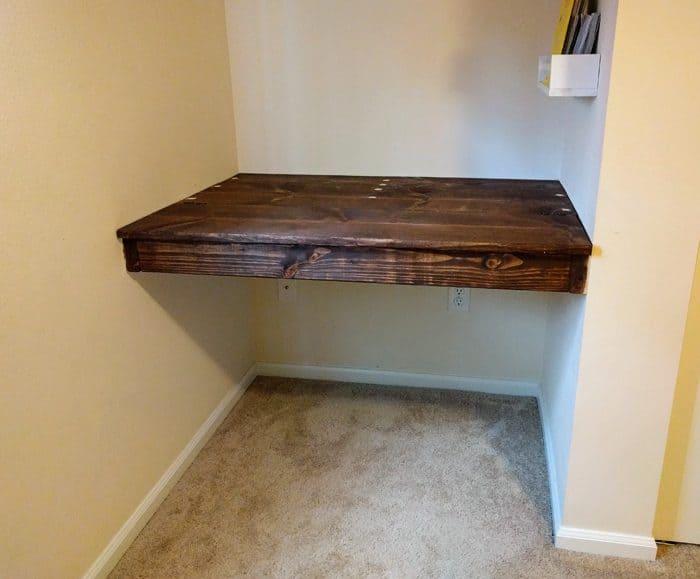 diy floating wall desk