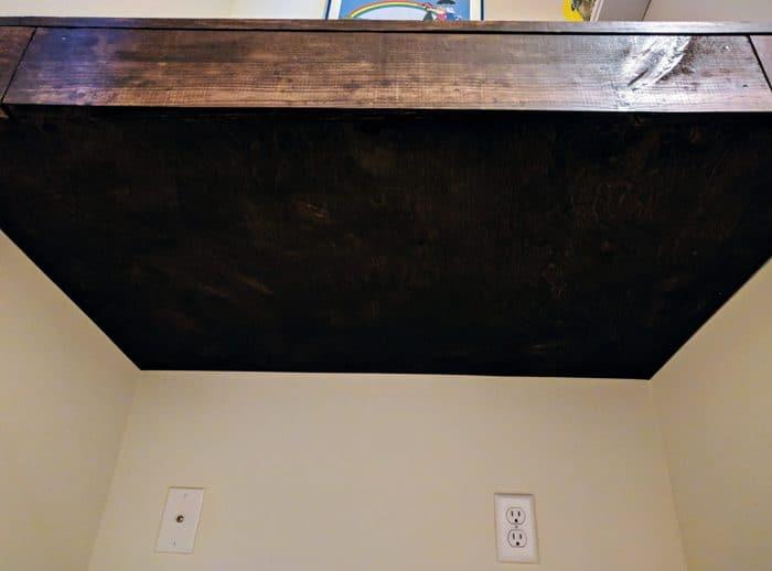 underneath floating wall desk