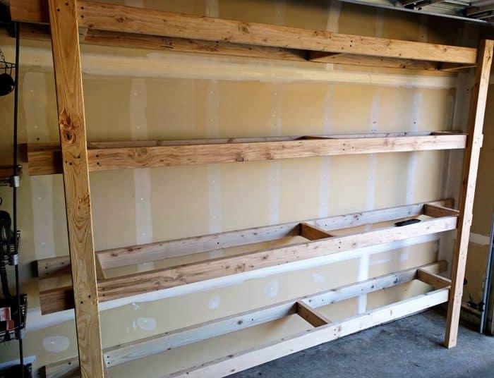 diy garage storage shelving